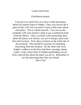 Letters from Felix  Enrichment project
