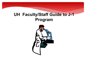 UH  Faculty/Staff Guide to J-1