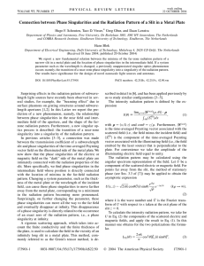 Connection between Phase Singularities and the Radiation Pattern of a... Hugo F. Schouten, Taco D. Visser,* Greg Gbur, and Daan...
