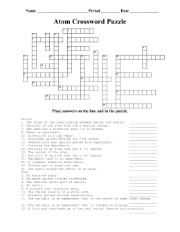 Atom Crossword Puzzle