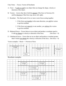 Class Notes  -  Forces, Vectors & Resultants