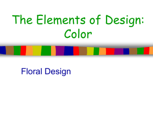 The Elements of Design: Color Floral Design