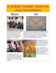 Carlisle County Schools Arts Newsletter Music Art