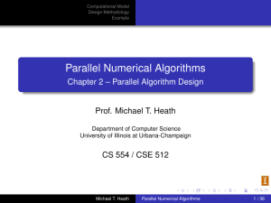 Parallel Numerical Algorithms Chapter 2 – Parallel Algorithm Design