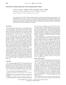 Electronic Gas-Phase Spectrum of the Pentaacetylene Cation H. Linnartz,