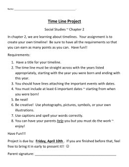 Time Line Project