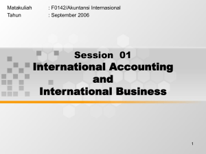 International Accounting and International Business Session  01