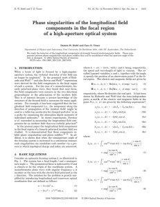 Phase singularities of the longitudinal field components in the focal region