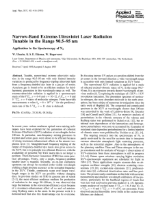 Applied Narrow-Band  Extreme-Ultraviolet  Laser  Radiation