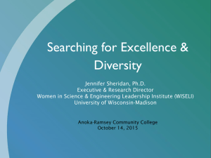 Searching for Excellence & Diversity