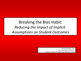 Breaking the Bias Habit: Reducing the Impact of Implicit