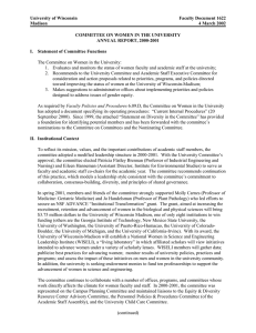 University of Wisconsin Faculty Document 1622 Madison 4 March 2002
