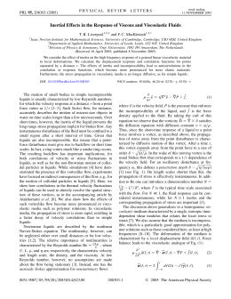 Inertial Effects in the Response of Viscous and Viscoelastic Fluids