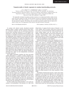 Nonuniversality of elastic exponents in random bond-bending networks D. A. Head,