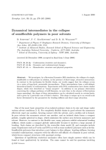 Dynamical intermediates in the collapse of semiflexible polymers in poor solvents