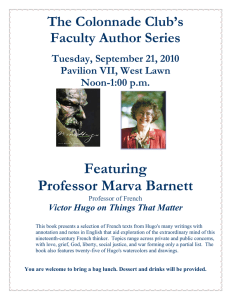 Featuring Professor Marva Barnett The Colonnade Club's Faculty Author Series