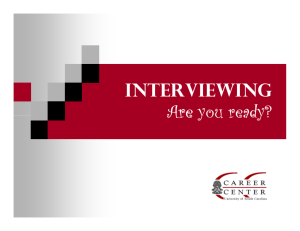 Interviewing Are you ready?