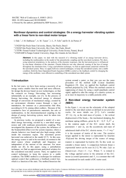 Nonlinear dynamics and control strategies: On a energy harvester vibrating... with a linear form to non-ideal motor torque