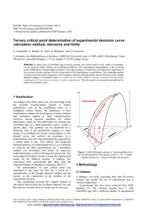 Ternary critical point determination of experimental demixion curve: