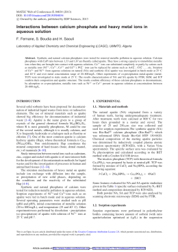 Interactions between calcium phosphate and heavy metal ions in aqueous solution 5