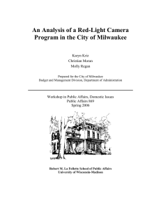 An Analysis of a Red-Light Camera