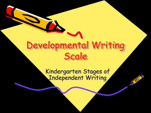 Developmental Writing Scale Kindergarten Stages of Independent Writing