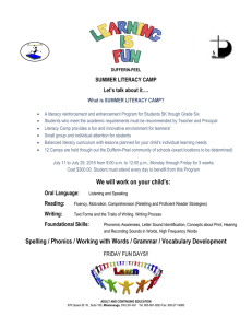 SUMMER LITERACY CAMP Let's talk about it…. What is SUMMER LITERACY CAMP?