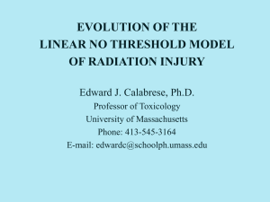EVOLUTION OF THE LINEAR NO THRESHOLD MODEL OF RADIATION INJURY