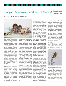 Project Memory: Making It Work!