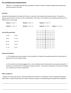 FST:  Investigating Linear Inequalities Exercise