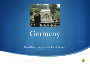 Germany S PowerPoint presentation by Joseph Granger