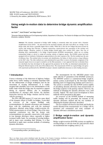 Using weigh-in-motion data to determine bridge dynamic amplification factor