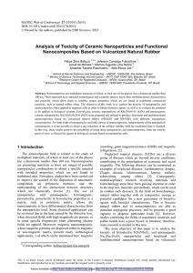 Analysis of Toxicity of Ceramic Nanoparticles and Functional