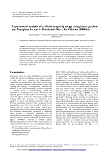 Experimental analysis of artificial dragonfly wings using black graphite