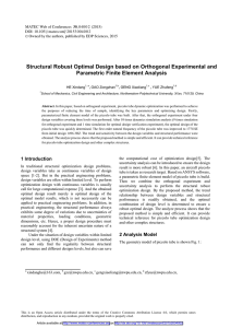 Structural Robust Optimal Design based on Orthogonal Experimental and