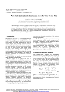 Periodicity Estimation in Mechanical Acoustic Time-Series Data