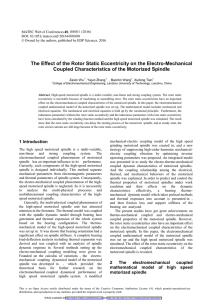 The Effect of the Rotor Static Eccentricity on the Electro-Mechanical