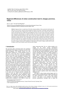 Regional differences of urban construction land in Jiangsu province, China