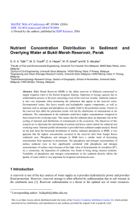 Nutrient Concentration Distribution in Sediment and