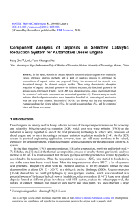 Component Analysis of Deposits in Selective Catalytic