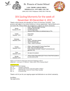 SFA Sizzling Moments for the week of: November 30-December 4, 2015