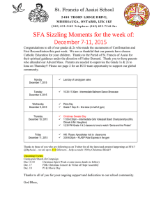 SFA Sizzling Moments for the week of: December 7-11, 2015