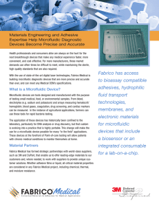 Materials Engineering and Adhesive Expertise Help Microfluidic Diagnostic