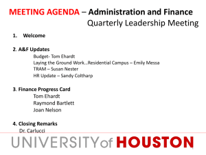 MEETING AGENDA Administration and Finance  Quarterly Leadership Meeting