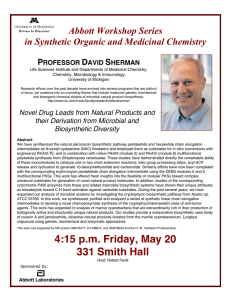 Abbott Workshop Series in Synthetic Organic and Medicinal Chemistry  P