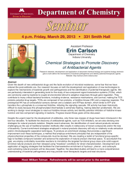 Seminar Department of Chemistry Erin Carlson