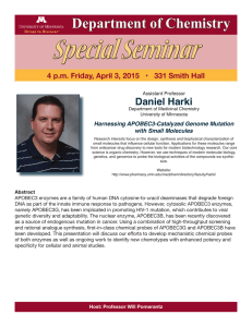 Special Seminar Department of Chemistry Daniel Harki
