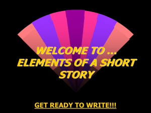 WELCOME TO … ELEMENTS OF A SHORT STORY GET READY TO WRITE!!!