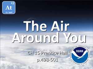The Air Around You At CH 15 Prentice Hall
