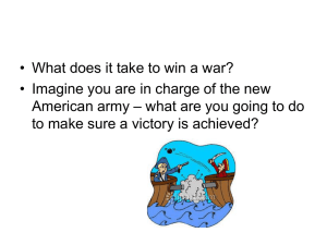 • What does it take to win a war? American army